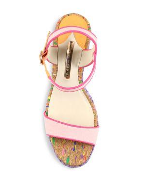 SOPHIA WEBSTER Canvases Lucita Mixed Media Espadrille Wedge Sandals