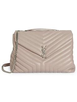 0ecef62a07eba5 Saint Laurent. Large Loulou Matelassé Leather Shoulder Bag