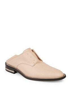 9a9cf99eb0d9 Givenchy Double Chain Leather Loafer Slides from Saks Fifth Avenue ...