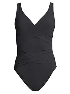 ead37f89fc5c1 QUICK VIEW. Karla Colletto Swim. Smart Surplice Swimsuit