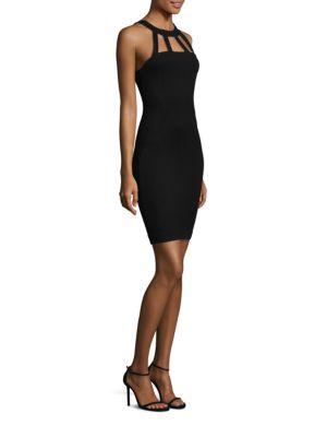 Gemma Cutout Halter Dress