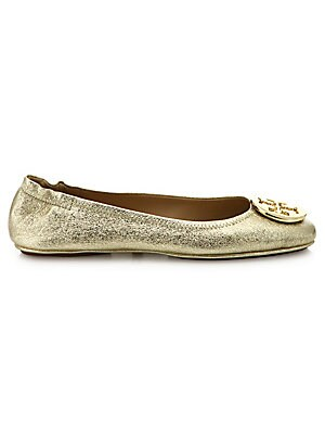 636df10e327033 Tory Burch - Minnie Travel Metallic Leather Ballet Flats - saks.com