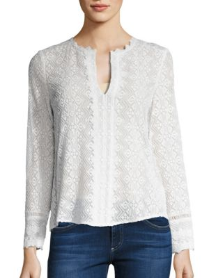 Florence Embroidered Silk Top by Rebecca Taylor
