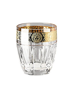 "Image of 10.82 oz. capacity Height, 3.74"" Glass Made in Italy. Gifts - Tabletop. Versace."