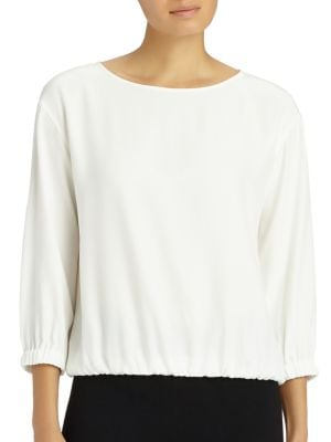 Evie Silk Blouse by Lafayette 148 New York