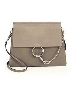 788fc91f80 QUICK VIEW. Chloé. Medium Faye Leather   Suede Bag