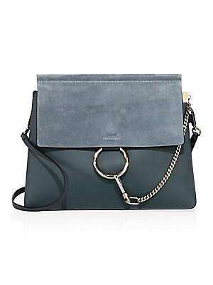 c21924ac173 Chloé - Medium Faye Leather   Suede Bag - saks.com