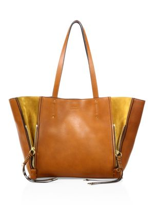 dd08f560a1828 ChloÉ Milo Medium Leather Tote Bag - Brown