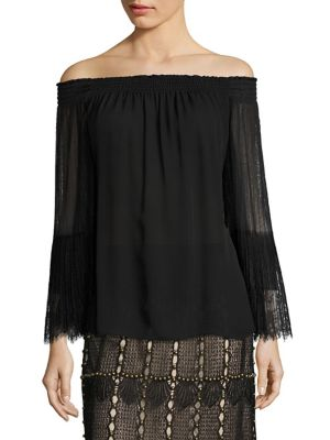 Veruka Off-the-Shoulder Silk Blouse by KOBI HALPERIN
