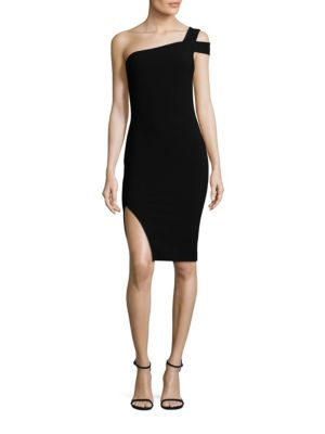 LIKELY Packard One-Shoulder Cocktail Dress in Black