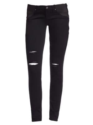 Verdugo Distressed Skinny Maternity Jeans plus size,  plus size fashion plus size appare
