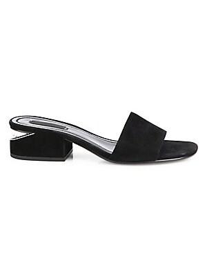 bad0da44d491 Alexander Wang - Lou Suede Low-Heel Slides