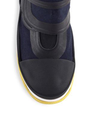 MARNI Leathers Grip-Tape Platform Sneakers