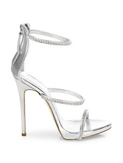 441260b0674 QUICK VIEW. Giuseppe Zanotti. Swarovski Crystal Accented Leather Sandals