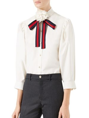 Cotton Poplin Shirt by Gucci