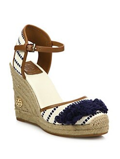 45d98c4b2 Tory Burch Shaw Striped Wedge Espadrilles from Saks Fifth Avenue ...