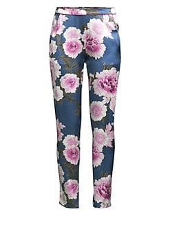 01b41df163 Fleur du Mal. Contrast Back Seam Silk Pajama Pants