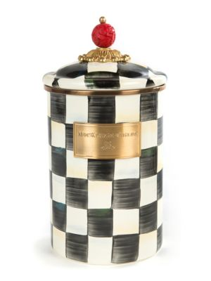 Mackenzie Childs Courtly Check Canister