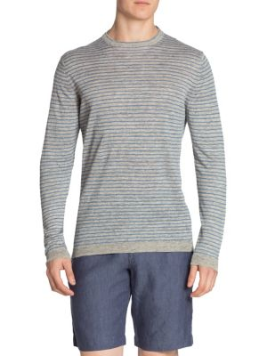 Saks Fifth Avenue  COLLECTION Striped Linen Tee