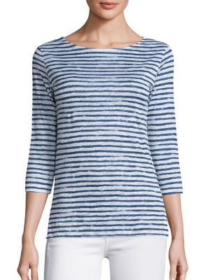Striped Linen Tee by Majestic Filatures