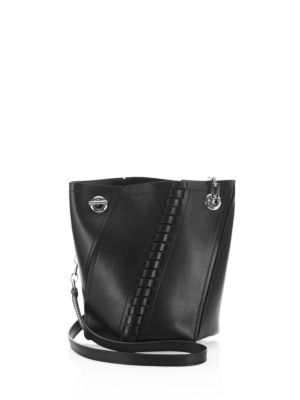 Proenza Schouler Leathers Hex Mini Whipstitched Leather Bucket Bag