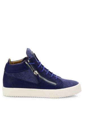 GIUSEPPE ZANOTTI Leathers Leather & Suede High-Top Sneakers