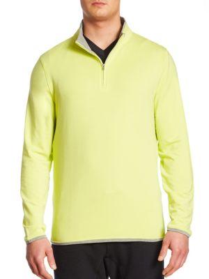 Saks Fifth Avenue  COLLECTION Zippered Mockneck Sweatshirt