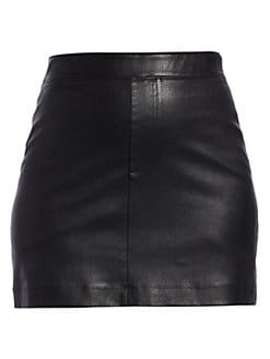 f9e062b91242 Helmut Lang. Stretch Leather Mini Skirt
