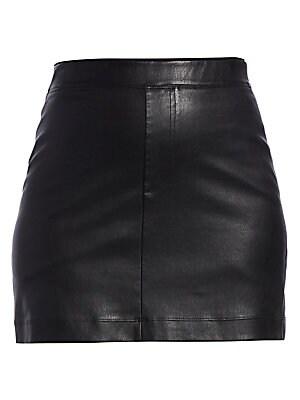 66e8998037 Helmut Lang - Stretch Leather Mini Skirt - saks.com