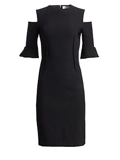 baf1f25330 QUICK VIEW. Teri Jon by Rickie Freeman. Cold-Shoulder Bell-Sleeve Dress