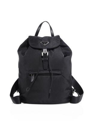 Small Nylon Backpack by Prada