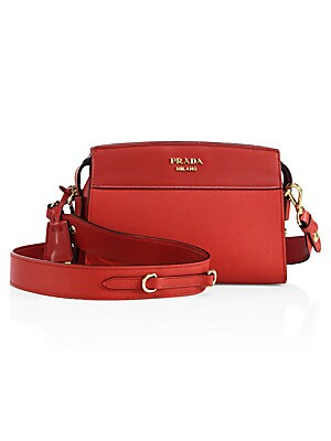 40c20ed5869e Prada - Esplanade Leather Crossbody Bag - saks.com