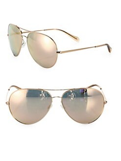 91e9f40a45 Oliver Peoples. Sayer 63MM Mirrored Aviator Sunglasses