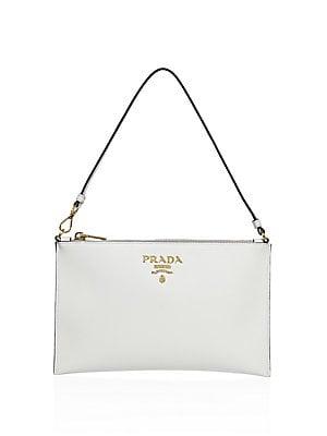a667fe042c1e Prada - Saffiano Leather Shoulder Bag - saks.com