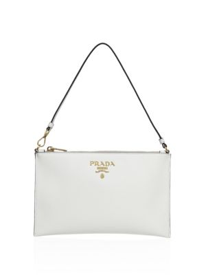 Saffiano Leather Shoulder Bag by Prada