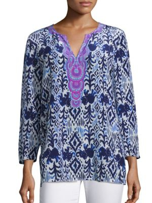 Renato Silk Printed Tunic by Lilly Pulitzer