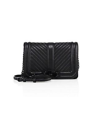 Rebecca Minkoff - Small Love Chevron Quilted Leather Crossbody Bag 48fcc5f2215d6