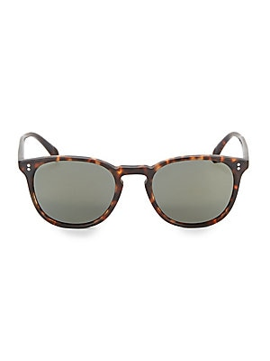 4939df518b2 Oliver Peoples - Sheldrake Leather 47MM Sunglasses - saks.com