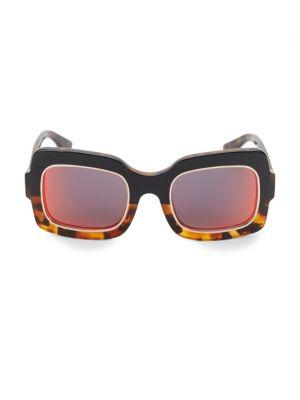 DAX GABLER 51Mm Two-Tone Square Sunglasses in Multi