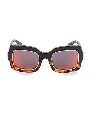 Image of Eye-catching sunglasses heightened with two-tone design 51mm lens width; 24mm bridge width; 135mm temple length Acetate Made in Italy. Soft Accessorie - Sunglasses. Dax Gabler.
