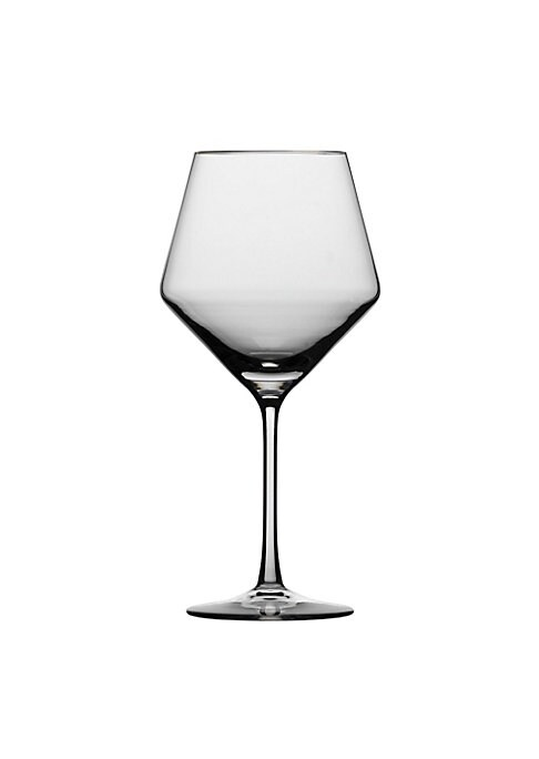 """Image of Relish the finest burgundy wines with this Glass set that is constructed with lead-free tritan crystal for exceptional durability and clarity. Set of 4.Angled bowl. Lead-free.4.5"""" W X 9.2"""" H.Tritan crystal. Dishwasher safe. Made in Germany."""