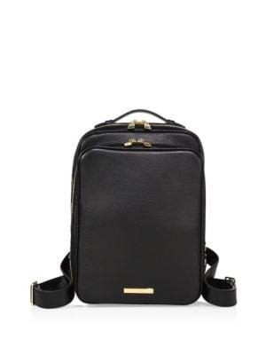 SKITS Italian Pebble Leather Backpack in Black