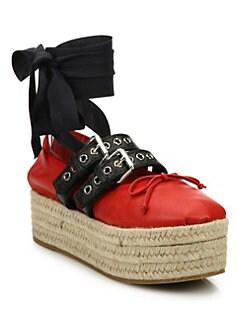 Miu Miu Platform suede ballerina shoes BSY54D2qC