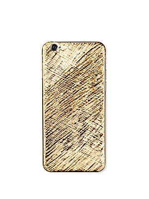 """Image of ONLY AT SAKS.COM Sumptuous gilded iPhone case with arty textured detail Fits iPhone 6/6S 18K goldplated Metal alloy 3"""" W X 5"""" H Made in Italy. Men Accessories - Tech Accessories > Saks Fifth Avenue. La Mela. Color: Gold."""