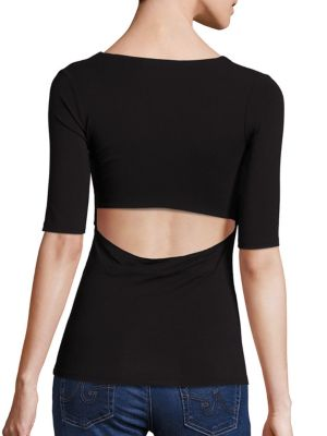 Solid Back Cutout Tee by T by Alexander Wang