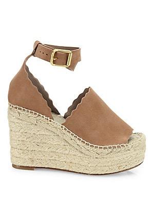 88dafa7f50 Chloé - Lauren Suede Ankle-Strap Espadrille Wedge Sandals - saks.com