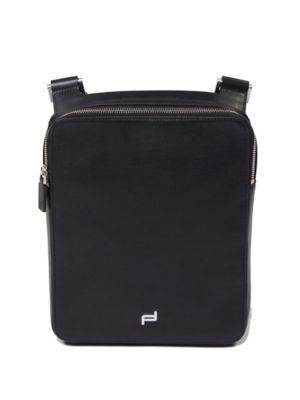 PORSCHE DESIGN Shyrt Leather Shoulder Bag in Black