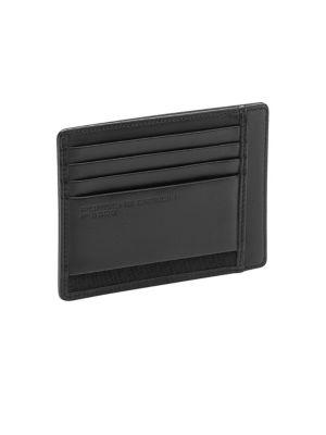 PORSCHE DESIGN Cl2 2.0 Textured Leather Card Holder in Black