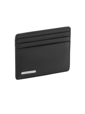 PORSCHE DESIGN Cl2 2.0 Leather Card Holder in Black