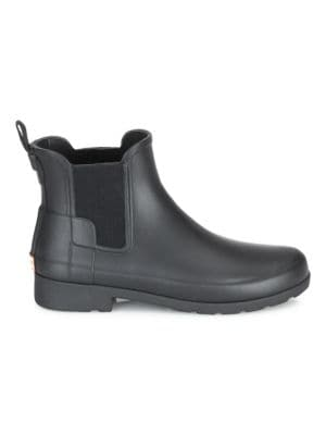 Original Refined Matte Rubber Chelsea Boots in Black